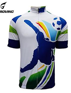 Getmoving® Camisa para Ciclismo Mulheres / Homens / Unissexo Manga Curta MotoRespirável / Secagem Rápida / Design Anatômico / Resistente