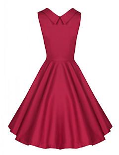 vestido de festa hepburn do vintage das mulheres (misturas de algodão)