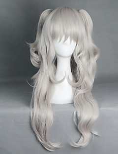 Cosplay Wigs Cosplay Cosplay White / Gray Long Anime Cosplay Wigs 70+40 CM Heat Resistant Fiber Male / Female