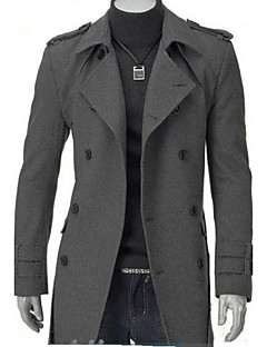 Men's Long Parka Coat,Cotton Solid Long Sleeve