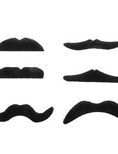 Novelty Funny Halloween Cosplay Costume Party Fake Mustaches - Black (12PCS/Pack)