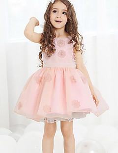 Ball Gown Knee-length Flower Girl Dress - Cotton/Tulle/Polyester Sleeveless