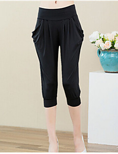Women's Casual Harem Cropped Pants , Cotton Blends Micro-elastic