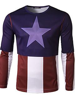 Men's Cycling T-shirt Long Sleeve Bike Autumn Breathable / Quick Dry / Wicking Purple M / L / XL / XXL / XXXL / XXXXL Stretchy