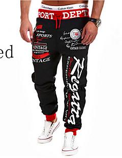 Pantaloni della tuta Uomo Casual/Formale/Attività sportive Con stampe Misto cotone