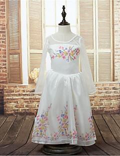 Детское праздничное платье - Бальное платье Длина до пола Длинные Атлас/Стреч-сатин
