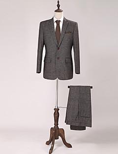 Standaard pasvorm - Smokings ( Donkerbruin , Wool & Polyester Blended , 2-delig )