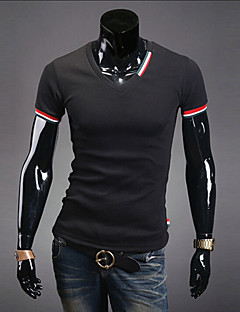 Yoonheel Men's Long Sleeve T-Shirt,Cotton / Polyester Work Solid / Color Block