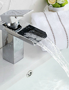 Moderne Centersat Foss with  Keramisk Ventil Enkelt Håndtak Et Hull for  Krom , Bathroom sink tappekran