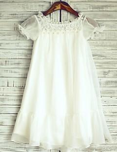נסיכה הברך אורך השמלה פרח ילדה - תחרה צוואר הצוואר על ידי thstylee