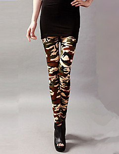 Women's Fashion Sexy Beige Camouflage Clothing Printing Legging