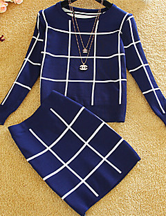 Women's Casual Long Sleeve Dress Two pieces, Cotton Thick