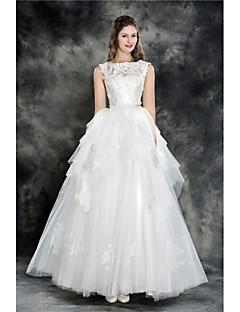 Wedding Dress - Ivory Floor-length Jewel Tulle