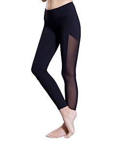 Rainha Yoga® Mulheres Corrida Calças 3/4 calças justas Cropped Leggings Respirável Compressão Materiais Leves Elástico Redutor de Suor