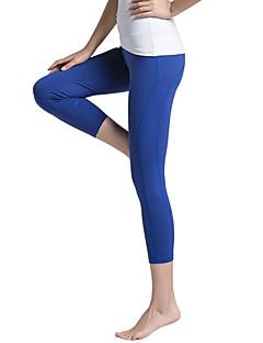 Yogame® לנשים ריצה מכנסיים 3/4 טייץ מכנסי שלושה רבעים תחתיות ייבוש מהיר חומרים קלים תומך זיעה דחיסה אביב קיץ סתיו חורףיוגה פילאטיס כושר