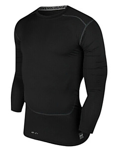 Running Tops Men's Long Sleeve Quick Dry / Compression / Lightweight Materials Chinlon Fitness / Racing / Leisure Sports / Running Sports