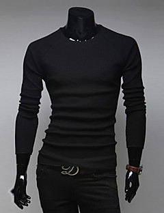Men's Pure Pullover , Cotton Long Sleeve