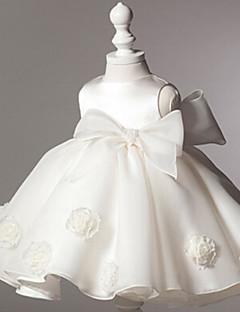 Blumenmädchenkleid - Baumwolle / Tülle / Polyester - Duchesse-Linie - knielang - Ärmellos