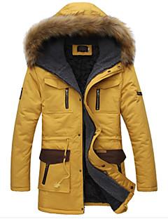 男性用 ロング パーカー コート , コットン プレイン 長袖