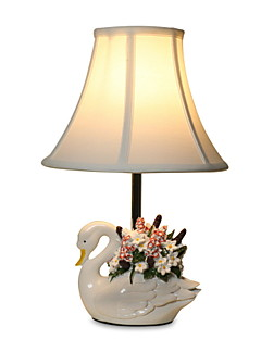 BOXOMIYA® Lighting Lamp Eye Pastoral Swan Minimalist Fashion Bedroom Bedlamp Resin