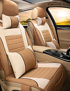 Car Seat, All Surrounded By Linen Cloth Cushion, Four Pad Seat Cover, Rear Size 125-135-140 Cm
