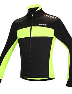 SANTIC® Jaqueta para Ciclismo Homens Manga Comprida MotoMantenha Quente / A Prova de Vento / Design Anatômico / Forro de Velocino / Tiras