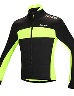 SANTIC® Cycling Jacket Men's Long Sleeve Bike Thermal / Warm / Windproof / Anatomic Design / Fleece Lining / Reflective StripsJacket /