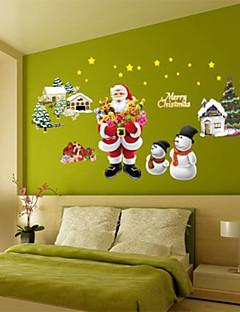 decoración avión navidad pegatinas de pared feliz, extraíble pvc