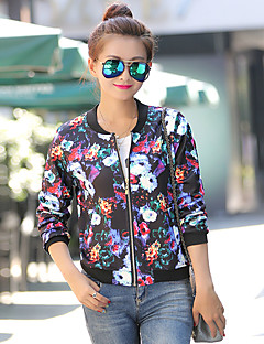 여성 - 캐쥬얼 원형 긴소매 - 코트&자켓 ( 혼합면 / 폴리에스터 )