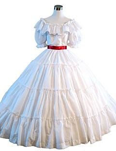 Jednodílné/Šaty Gothic Lolita Steampunk® Viktoria Tarzı Cosplay Lolita šaty Jednobarevné Krátký rukáv Long Length Šaty ProKrajka Satén
