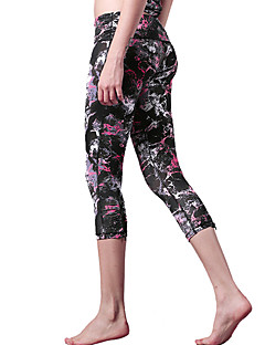 Yoga Pants Fundos / Calças / 3/4 calças justas / Crop Secagem Rápida / Materiais Leves Stretchy Wear Sports Others Mulheres ShyelemonIoga