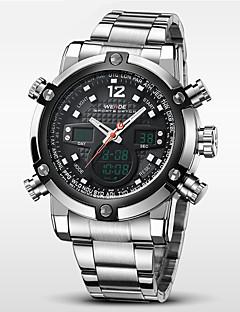 WEIDE® Men Luxury Sport Watch Double Time LCD Waterproof Stainless Steel Wristwatch Wrist Watch Cool Watch Unique Watch Fashion Watch
