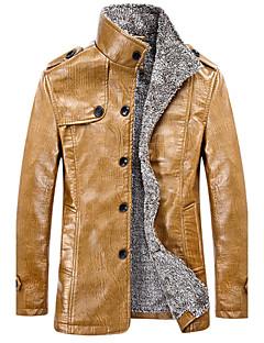 Men PU Top , Fleece Lining