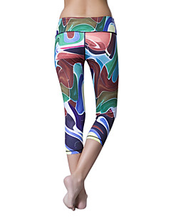 לנשים ריצה מכנסיים 3/4 טייץ חותלות תחתיות ייבוש מהיר חומרים קלים אביב קיץ סתיו חורף יוגה פילאטיס כושר גופני כותנה טרילןבבית בגדי שטח הצגה