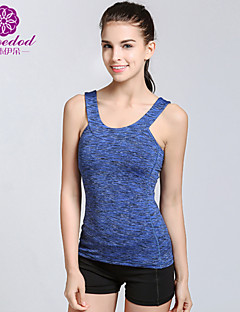 SMOEDOD ® Ioga tops Respirável / Anti-Estático / wicking / Compressão Stretchy Wear Sports Ioga / Pilates / Fitness / Corrida Mulheres