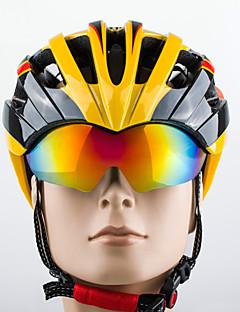 Capacete ( Amarelo / Branco / Vermelho / Rosa / Azul / Laranja , PC / EPS ) - Montanha / Estrada / Esportes - Unisexo 27 Aberturas