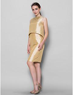 Lanting Bride® Knee-length Taffeta Bridesmaid Dress Sheath / Column Bateau with