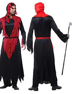 Cosplay Costumes / Party Costume Angel/Devil Festival/Holiday Halloween Costumes Red/Black Patchwork Dress Halloween Male Polyester