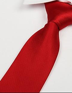 voksen rød twill slips pil jacquard polyester silke slips