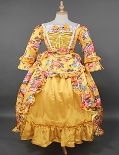 Steampunk®Top SALE Rococo Brocade Printing Lolita Long Prom Dress Marie Antoinette Inspired Dress Wholesalelolita Evening Dress