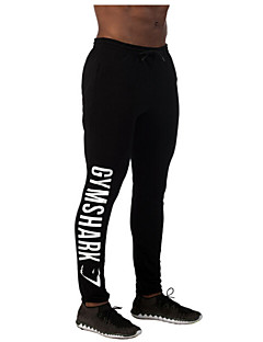 Running Pants/Trousers/Overtrousers / Leggings Men's Breathable / Sweat-wicking Leisure Sports Sports Loose Outdoor clothingWhite / Green