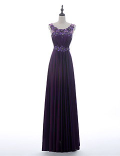 A-line Mother of the Bride Dress - Grape Floor-length Charmeuse