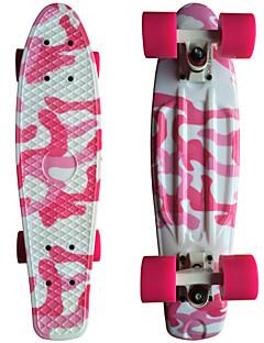 Rosa Tarnung Grafik printing Kunststoff-Skateboard (22 inch) Cruiser-Board mit ABEC-9 Lager