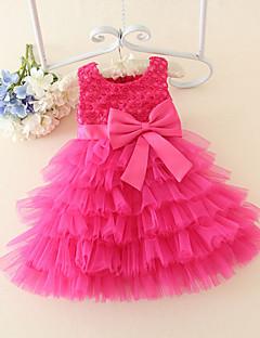 A-line Short/Mini Flower Girl Dress - Satin / Tulle Sleeveless