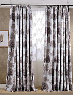 Două Panouri Țara / Modern / Neoclasic Floral / Botanic Multicolor Dormitor Amestec poli/bumbac Blackout Perdele Draperii