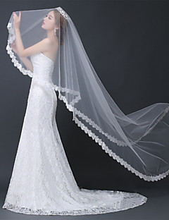 Wedding Veil One-tier Chapel Veils / Cathedral Veils Lace Applique Edge