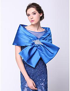 결혼식 랩 Capelets 민소매 폴리에스터 로얄 블루 웨딩 / 파티/이브닝