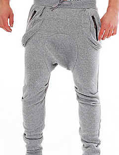 Men's Mid Rise Stretchy Sweatpants Pants,Simple Active Relaxed Harem Solid