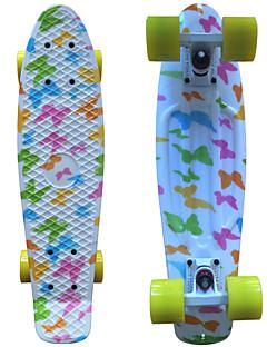 Schmetterlingsgraphik gedruckt Kunststoff-Skateboard (22 inch) Cruiser-Board mit ABEC-9 Lager