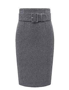 Women's Work Fashion Thicken One Step Slim Skirt Plus Size
